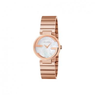 RELOJ GUCCI INTERLOCKING SM NACAR BLANCO