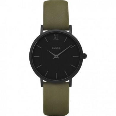 RELOJ CLUSE MINUIT FULL BLACK 33MM COOR OLIV
