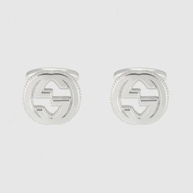 GEMELOS GUCCI INTERLOCKING G PLATA