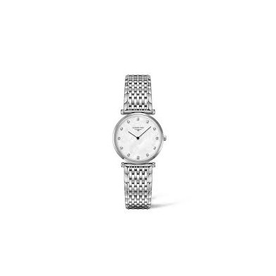 RELOJ LONGINES WHITE MOTHER OR PEARL 12 DIAMONDS