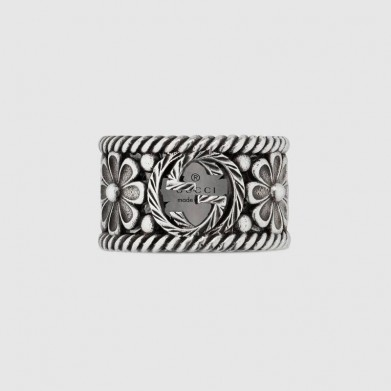 SORTIJA GUCCI PLATA INTERLOCKING G RINGS 8.5MM